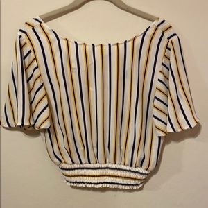 Forever 21 Cropped Flounce Top